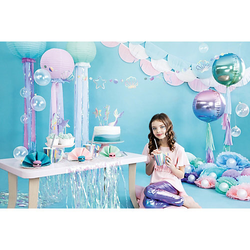 Let's be Mermaid Party Box, Bis 12 Personen, mit Mermaid-Stift als Gastgeschenk bunt