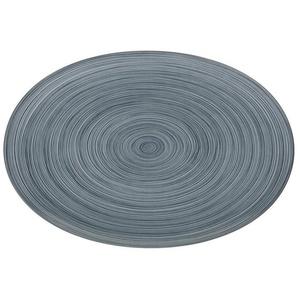 Rosenthal Servierplatte TAC Gropius Stripes 2.0 matt Platte 34 cm, Porzellan, (1-tlg)