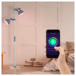 etc-shop Stehlampe, Steh Lampe Wohn Zimmer Spot Leuchte App steuerbar per Handy im Set inkl. RGB LED Leuchtmittel