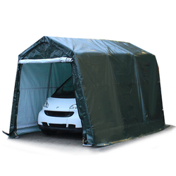 Toolport Zeltgarage 2,4x3,6m PE 260 g/m² dunkelgrün wasserdicht Garagenzelt
