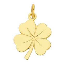 Adelia´s Kettenanhänger 585 Gold Anhänger Kleeblatt