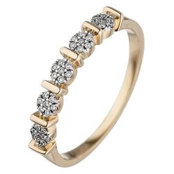 JOBO Diamantring, 585 Gold mit 35 Diamanten 52