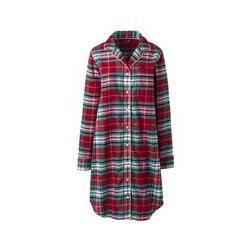 Gemustertes Flanell-Nachthemd - XS - Rot