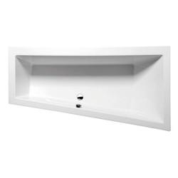 HAK Badewanne Andra, 180x90cm ohne Styroporträger, ohne Rahmengestell, rechts - 90 cm x 180 cm x 45 cm