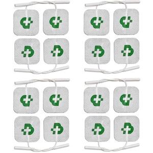 TESMED Elektroden Pads für TENS und EMS Reizstrom-Geräte mit 2mm-Stecker-Anschluss, selbstklebend, 16 Stück je 40x40mm