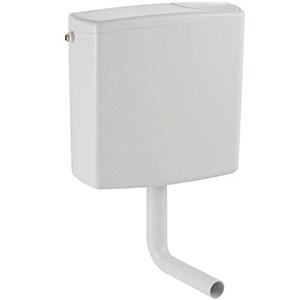 Geberit Spülkasten AP140, 140000111, Aufsatzspülkasten mit Start-Stopp-Funktion, 3-seitig anschließbar, Schwitzwasser-gedämmt, geräuscharm, für AP-Montage, Weiß, 21038 6