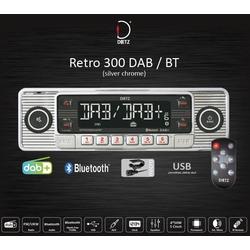 Retro 300 DAB / BT silber chrome