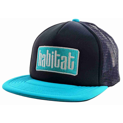 Cap HABITAT - Apex Low Blk/Teal (CERNA)