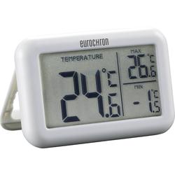 Eurochron Eurochron-Thermometer, zeigt max. und min. Temperatur an Funkwetterstation