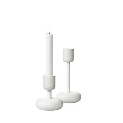 Iittala Nappula Kerzenständer 107+183 mm Weiß 2er-Pack