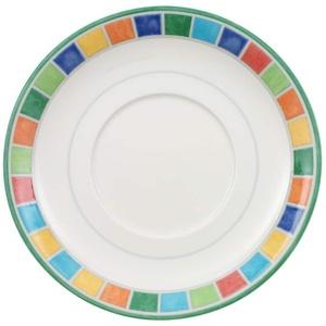 Villeroy & Boch Twist Alea Limone Untertasse, 14 cm, Premium Porzellan, Weiß/Gelb