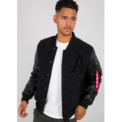 Alpha Industries Alpha Authentic College Jas, zwart, M