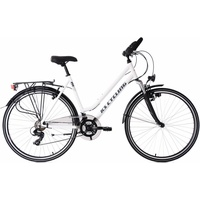 KS Cycling Damen-Trekkingrad, 28 Zoll, weiß, Shimano 21 Gang-Shimano Tourney, Metropolis weiß