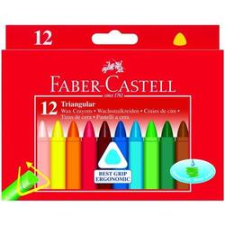 Wachsmalkreiden Dreikant mit Papierbanderole 12 Farben sortiert.
