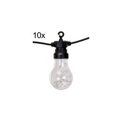 BULB Gartenlichterkette mit 100 LED - warmweiß Partybeleuchtung Partylichterkette Lichterkette IP44