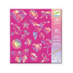 DJECO Bild Kratzbilder - Diamant rosa