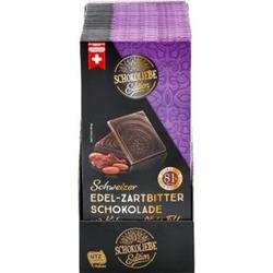 Schokoliebe Choco Edition Edelbitter Schokolade 81% 100 g, 15er Pack