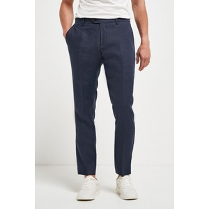 Next Anzughose Signature Leinenanzug: Slim Fit Hose (1-tlg) blau 33 - 76