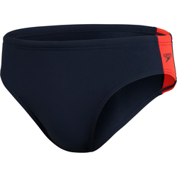 SPEEDO Badehose Herren in true navy-dragonfire orange, Größe 4 true navy-dragonfire orange 4