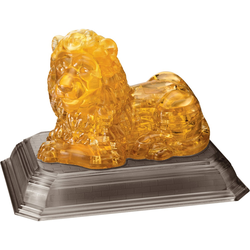 HCM KINZEL 3D-Puzzle Crystal Puzzle, Löwe gelb Kinder Ab 12-15 Jahren Altersempfehlung