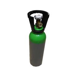 Pressluftflasche 5 Liter, 200 bar, mit Fuß und Tragegriff (Ventilschutz)