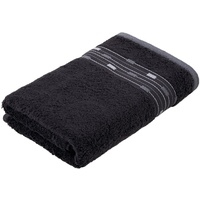 Handtuch Magic Uni (1-St), mit Bordüre aus kleinen Rechtecken schwarz