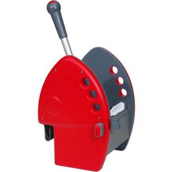 Meiko 4T HighSelect Presse, Vertikalpresse für kraft- und rückenschonendes bedienen, Maße: 30 x 27 x 50 cm, Farbe grau / rot