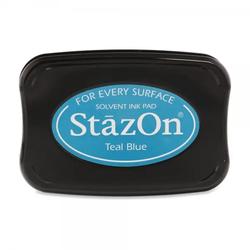 Tsukineko - Teal Blue Stazon Stempelkissen (9,9 x 6,7 cm)