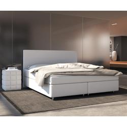 DELIFE Boxspring-bed cloud 160x200 cm wit topper en matras, Bedden