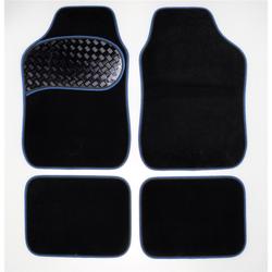 Filmer 38.964 Kfz Autoteppich - Set Alu-Look - Pad 4-tlg. - blau...