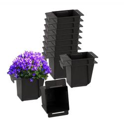 BigDean Blumenkasten Pflanzkasten Palette Mini Kunststoff Paletten Pflanzkübel Palettenkasten Palettenpflanzkasten (12 Stück)