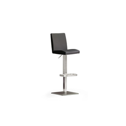 MCA furniture Barhocker Bar.be.cool aus Leder in schwarz