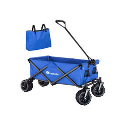 tectake Bollerwagen Faltbarer Bollerwagen max. 80kg blau