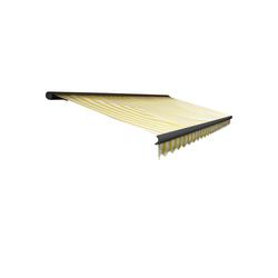 MCW Kassettenmarkise H122-4x3-V Winkel der Markise von 0° bis 35° stufenlos einstellbar, Vollkassette bietet Schutz gelb