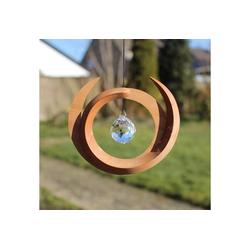 mitienda Fensterdekoration Fensterdeko aus Holz mit Kristall - Nepal
