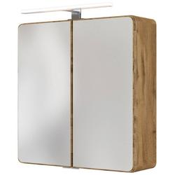 HELD MÖBEL Spiegelschrank Seattle Spiegelschrank 60 LED-Acryl-Aufbauleuchte natur