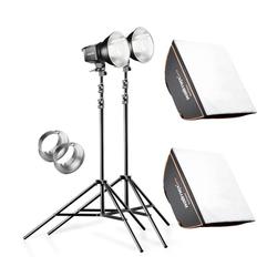 Walimex Pro 2er Set Daylight 250S + Softbox + Stativ