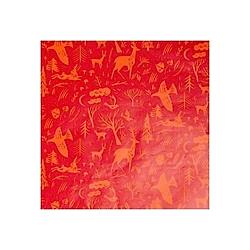 Geschenkpapier  Winterwald  Rot  FSC Mix