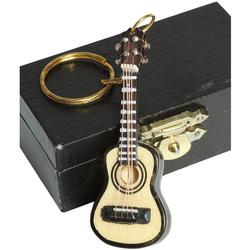Ambiente Haus Dekofigur Schlüsselanhänger Gitarre hell 7cm (1 Stück)