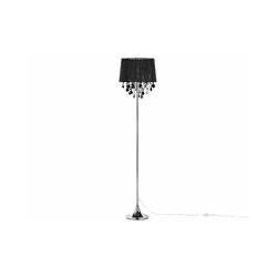 Stehlampe in Glamour Stil Polybaumwoll/Acryl schwarz Evans