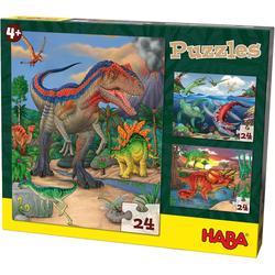 Haba Puzzle Puzzles - 3 x 24 Teile - Dinosaurier, Puzzleteile