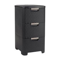 curver STYLE Aufbewahrungsboxen 3x14,0 l braun 32,8 x 37,8 x 60,0 cm