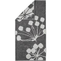 CAWÖ Cottage Floral 386 Handtuch 50 x 100 cm anthrazit