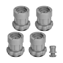 kueatily Möbelfuß Schwingungsdämpfer, 4 Stück Schwingungsdämpfer einstellbar Waschmaschine Anti-Vibrationsmatte für Waschmaschinen Trockner (Grau)