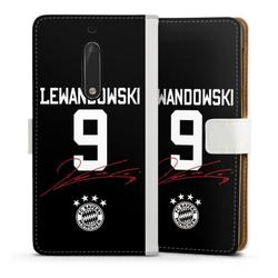 DeinDesign Handyhülle Lewandowski 9 Nokia 5, Hülle FC Bayern München FCB Lewandowski