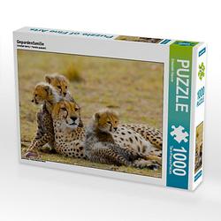Gepardenfamilie Lege-Größe 64 x 48 cm Foto-Puzzle Bild von Elisabeth Stanzer Puzzle