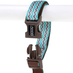 DOOG Leine CLIP-IT Benji braun/blau zigzag