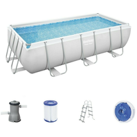 BESTWAY Power Steel Frame Pool Set 404 x 201 x 100 cm inkl. Filterpumpe