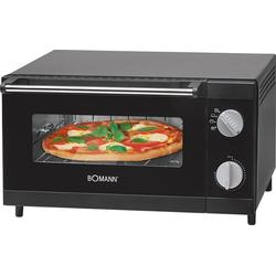 BOMANN Minibackofen MPO 2246 CB, Ober-/Unterhitze, 12 l, Pizzaofen ideal zum Grillen und Aufbacken