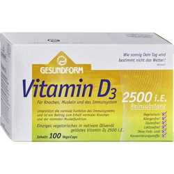 Gesundform Vitamin D3 2.500 IE Vega-Caps
